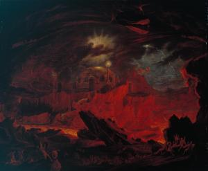 """The Fallen Angels Entering Pandemonium"" (ca. 1840)"