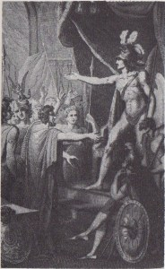 After R. Corbould, Satan's Return to Pandemonium (1796)