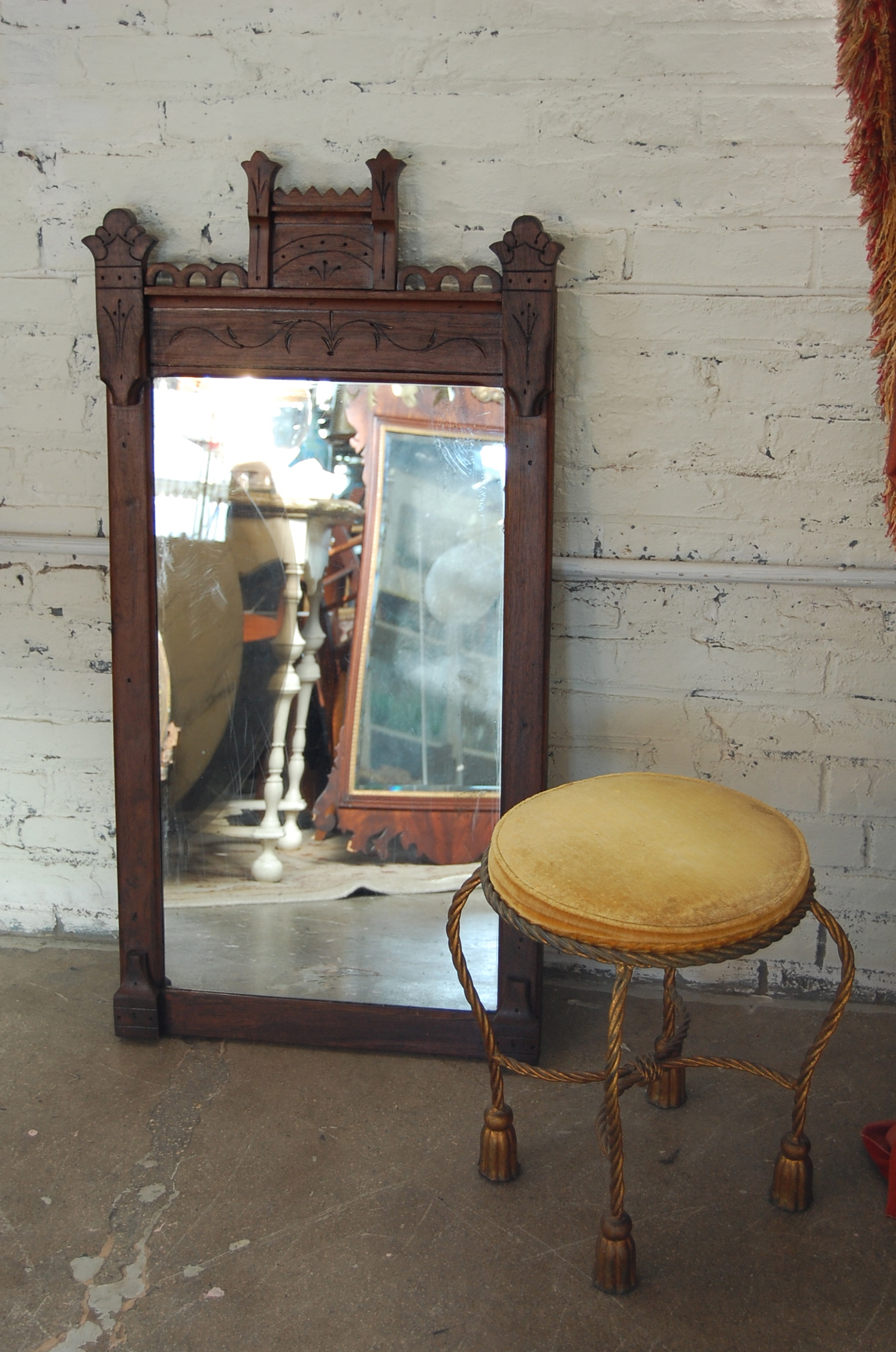 Home Goods Bar Stools Tall Victorian Eastlake Mirror | The Savoy Flea