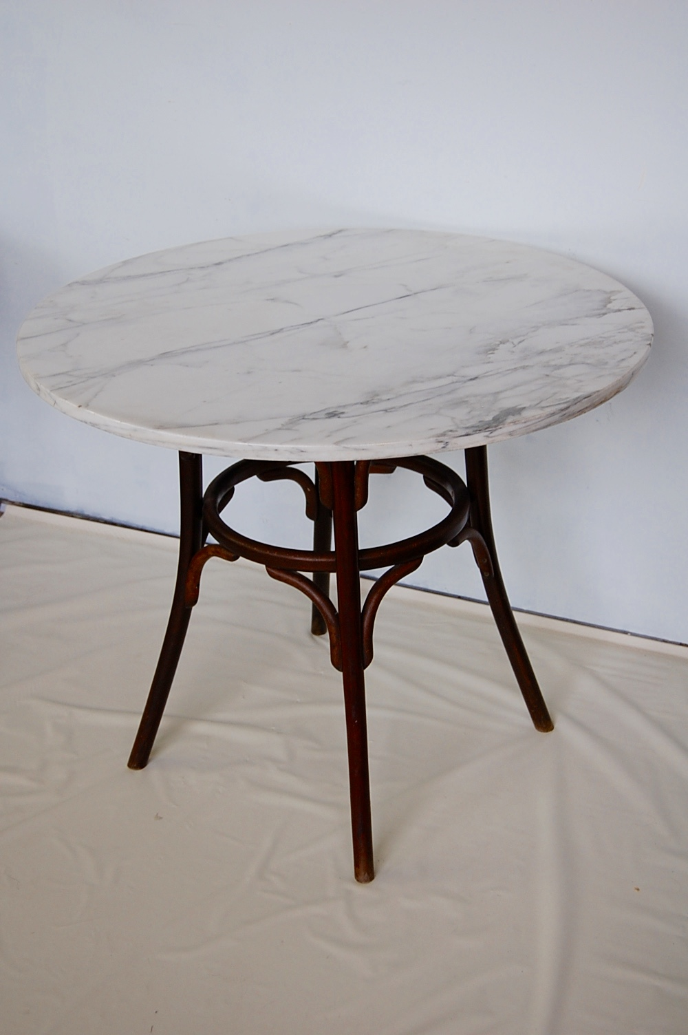 Bamboo Table Top Vintage Marble & Bentwood Bistro Dining Table | The Savoy Flea