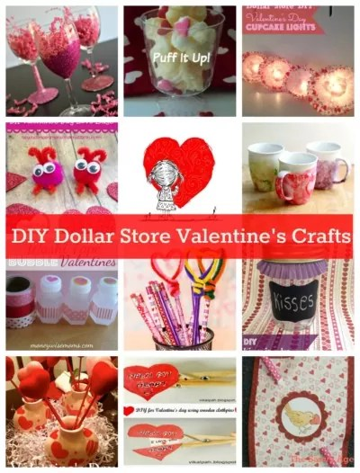 DIY Dollar Store Valentineu0027s Day Crafts \ Gifts - The Savvy Age - valentines day gifts