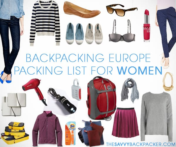 woman backpacking checklist