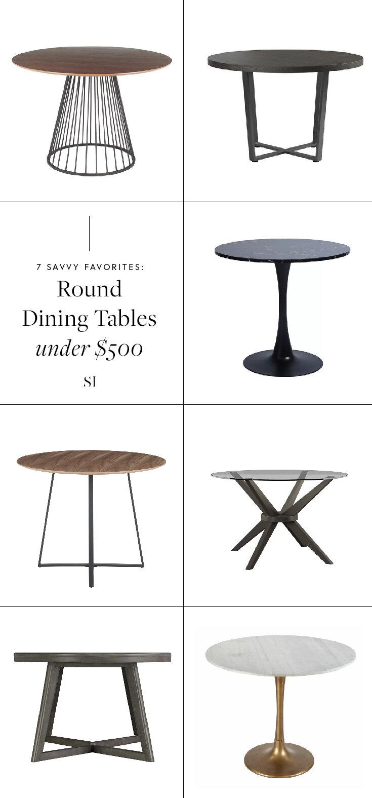 Savvy Favorites Contemporary Modern Round Dining Room Tables The Savvy Heart Interior Design Décor And Diy