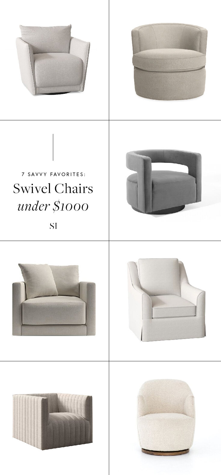 Savvy Favorites Swivel Accent Chairs For A Modern Living Room