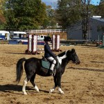 Vicki getting ready to start jumping