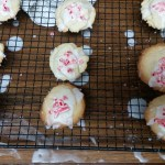 Pepermint glazed sugar cookies for Santa