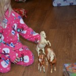 Amanda playing with her Breyer horses