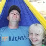 Enjoying the hammock