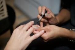 Manicure by MOOV. Sheek Survival Gifting Lounge #SSL15. Fashion Week Toronto. TheSceneinTO.com
