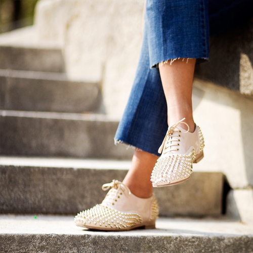 louboutin flats TREND ALERT  Cropped denim   The Sche Report / Margaret Sche