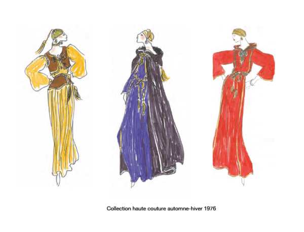 04 color sketches from press kit YSL AND MOROCCO:  A RELATIONSHIP OF LOVE   The Sche Report / Margaret Sche