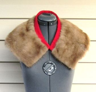 etsy fur caplet with red trim 5 KEY ITEMS FOR FALL 2011: GET THE LOOK   The Sche Report / Margaret Sche