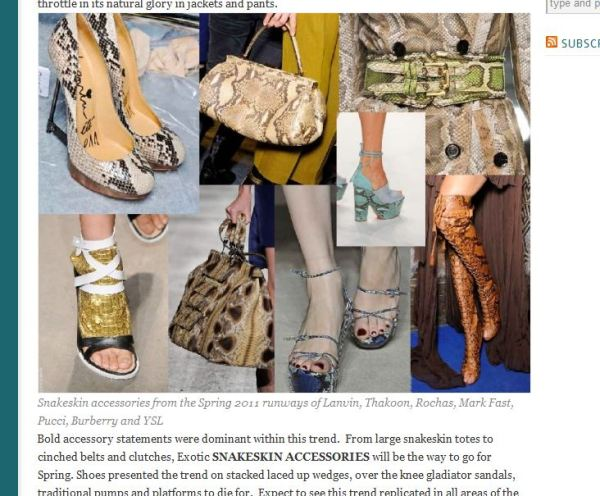 post snap 2 WE SAW IT FIRST! TREND VALIDATION: SUMMER SNAKESKINS   The Sche Report / Margaret Sche