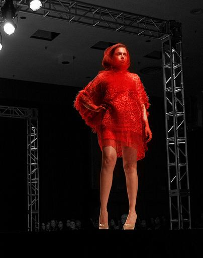red dress FINDING TALENT: UCLAs FAST SPRING SHOW   ILLUMINATION   The Sche Report / Margaret Sche