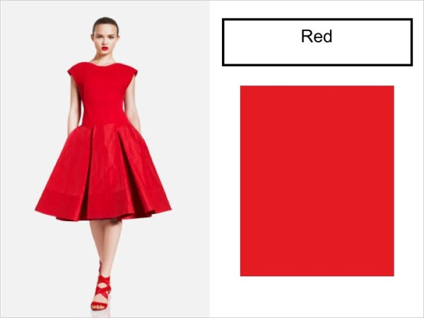 red SPRING 2012 COLOR PALETTE FORECAST   The Sche Report / Margaret Sche