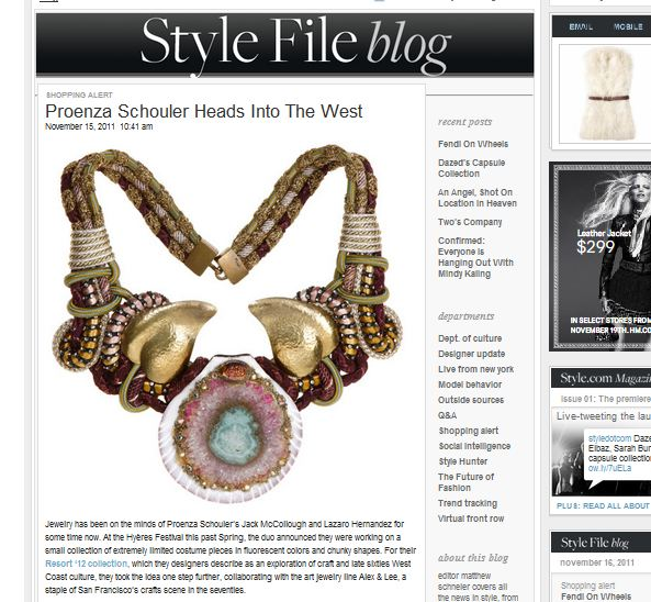 alex and lee style file STYLE.COM FEATURES ALEX AND LEE FOR PROENZA SCHOULER   The Sche Report / Margaret Sche