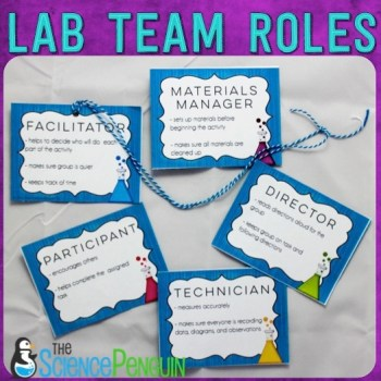 Science Lab Team Roles-- Free Printables