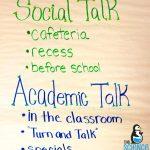 Social Talk vs. Academic Talk