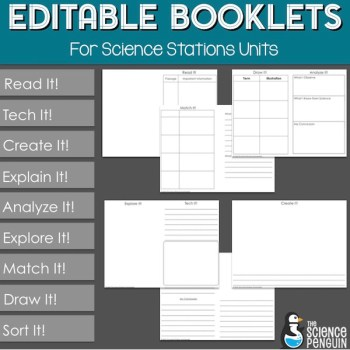 Editable Science Stations Student Booklets