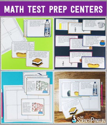 Math Test Prep Centers for 3rd, 4th, and 5th Grade!