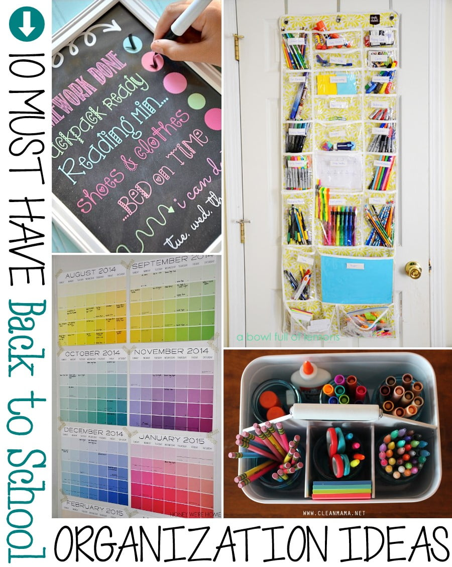 School Organization Tips 10 Must Have Back To School Organization Ideas - The Scrap