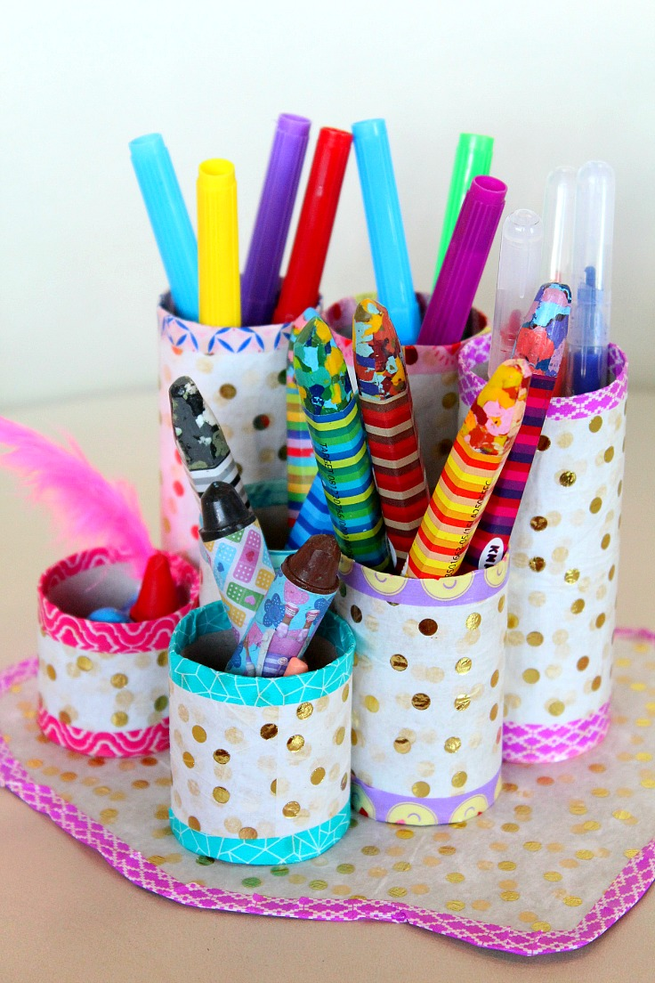 Homemade Pencil Holders Diy Pen Organizer Easy Affordable With Recycled Materials