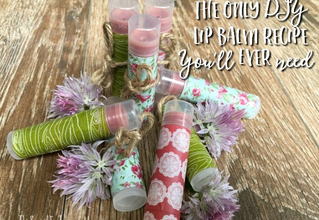 The Only Lip Balm Recipe You'll Ever Need