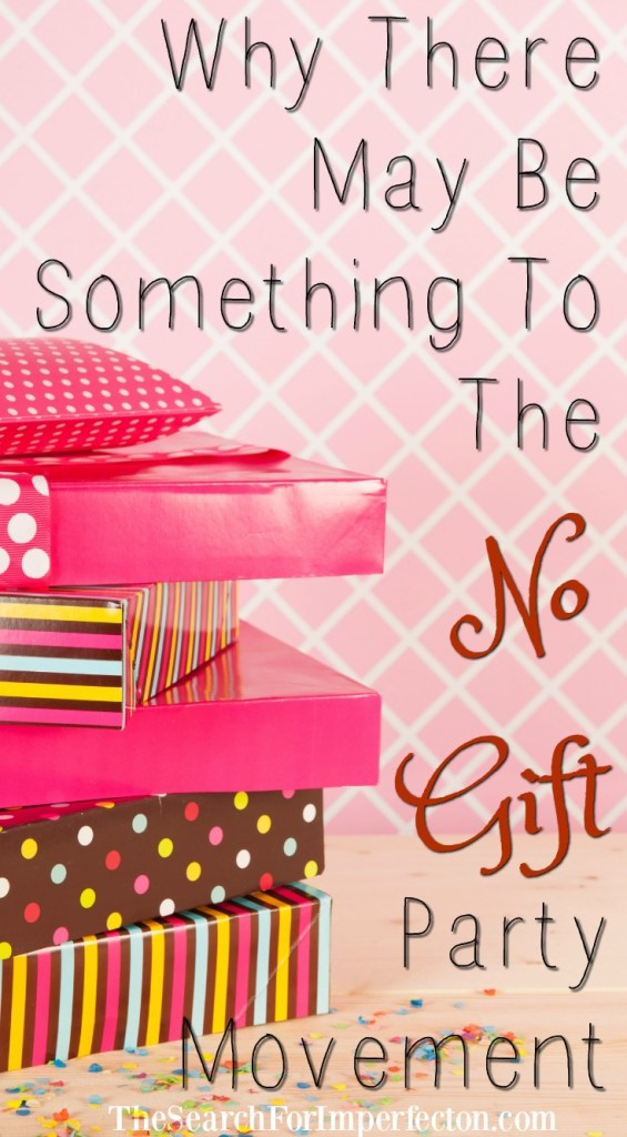 Why There May Be Something To The No Gift Party Movement