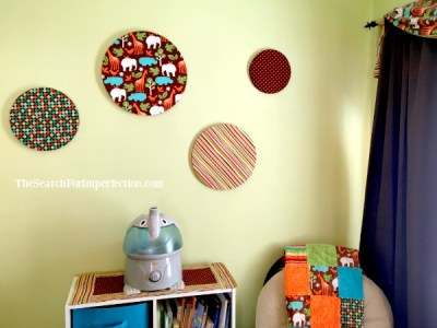 Finished circles on the walls