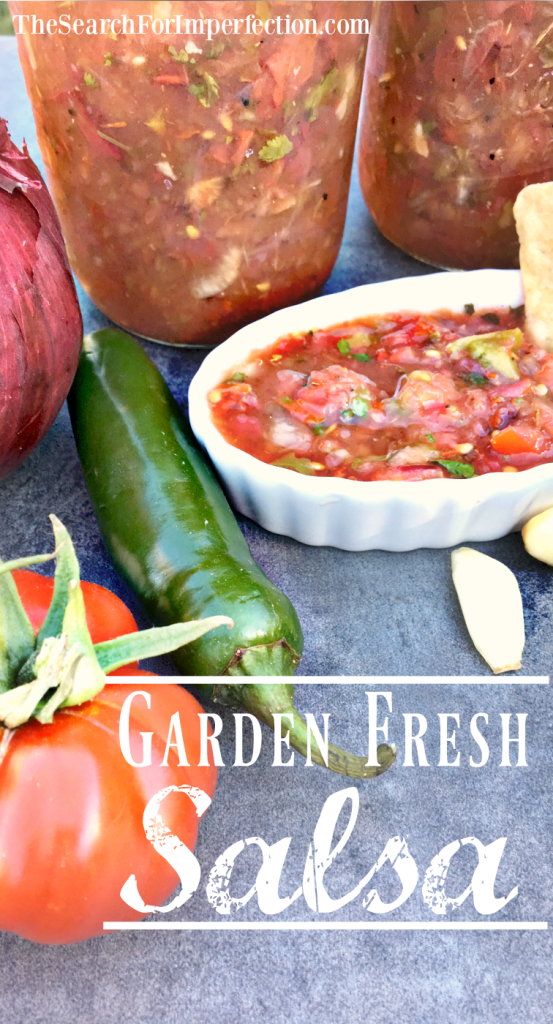 Not sure what to do with all your garden tomatoes? Try this easy and delicious garden fresh salsa.