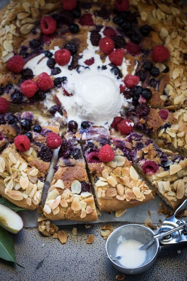 berry, peach & almond galette   The Secret Life of Bee