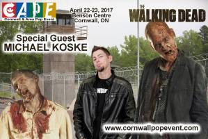 Walking Dead zombie actor Michael Koske to guest at CAPE 2017