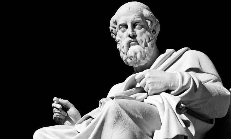Marble statue of the ancient greek philosopher Plato. Image shot 03/2009. Exact date unknown.
