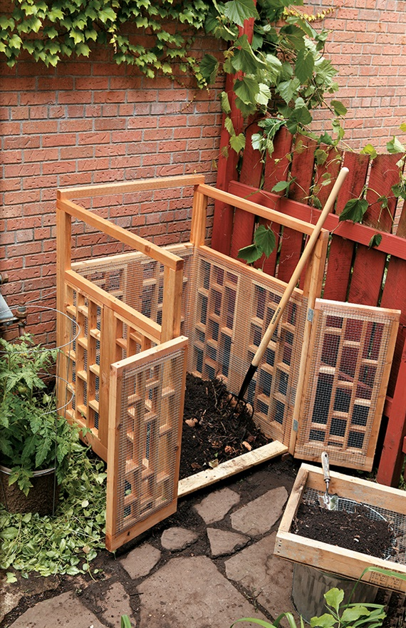 Plastic Weed Barrier 25 Homemade Compost Bins For Composting Food And Yard