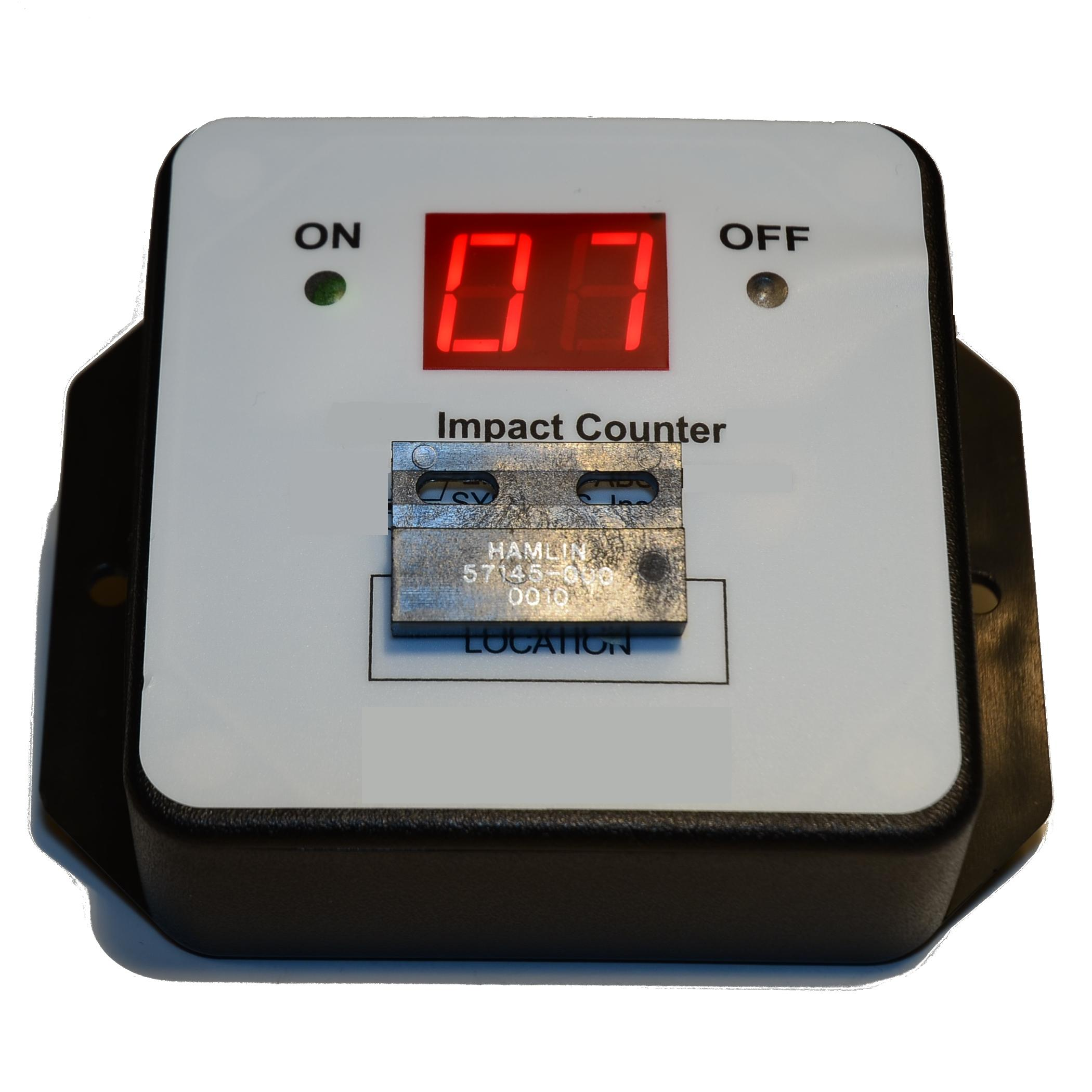 Battery Digital Digital Impact Sensor Counter Tamper Proof Battery Powered