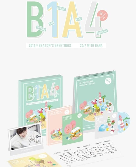 Includes 26P Calendar + 152P Diary + 5 Standee + 5 Sticker Set + Making DVD Release Date : 22 Dec 15