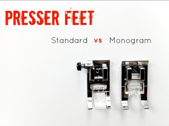 sewing machine with monogram