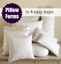 Pillow Form Insert: Printable Size Chart - The Sewing Loft