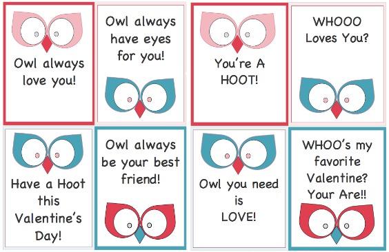 Free Valentine\u0027s Day Printables  Owl Mug Rug - The Sewing Loft