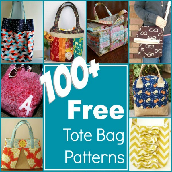 100+ Free Tote Bag Patterns Round Up - The Sewing Loft