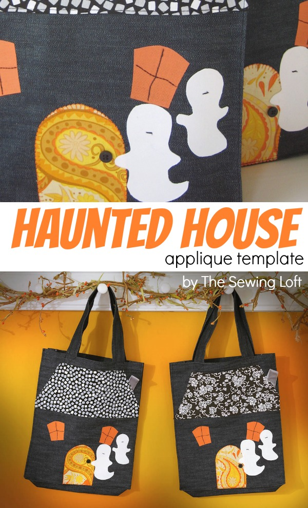 Haunted House Applique - The Sewing Loft