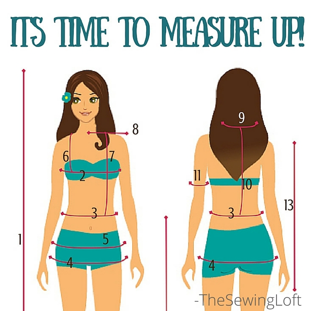 How to Measure Your Body - The Sewing Loft