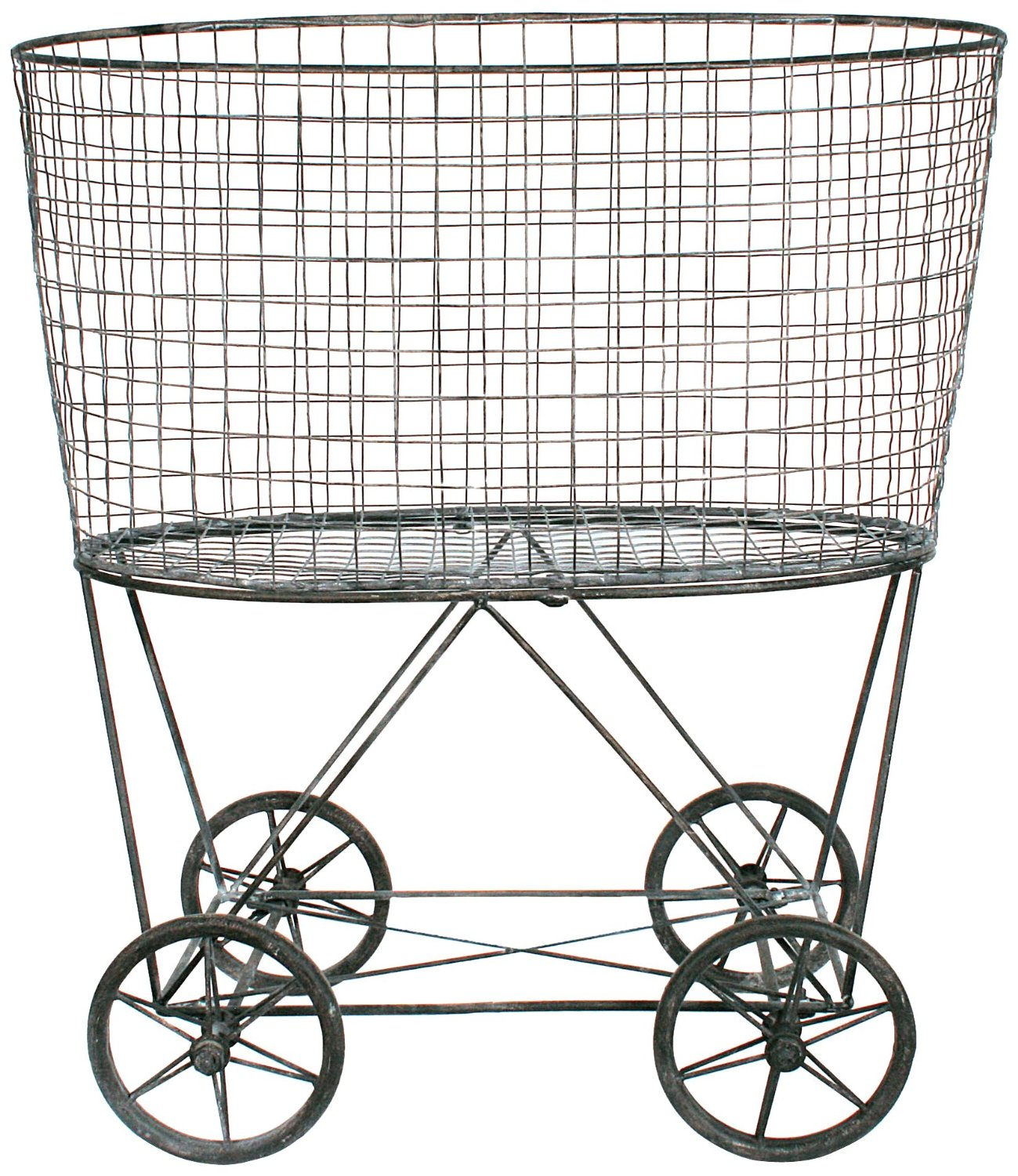 Wire Laundry Hamper On Wheels Farmhouse Style Storage 25 Bins Buckets And Baskets To Love