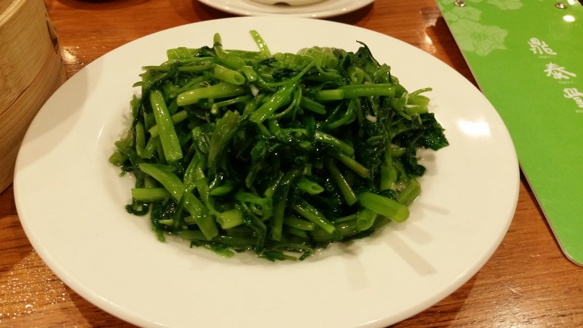 Water spinach! Garlicky delicious!