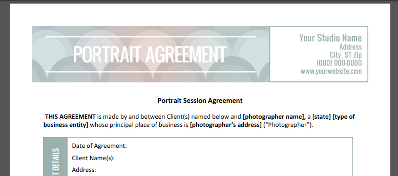 Photography contract template - all secrets of writing