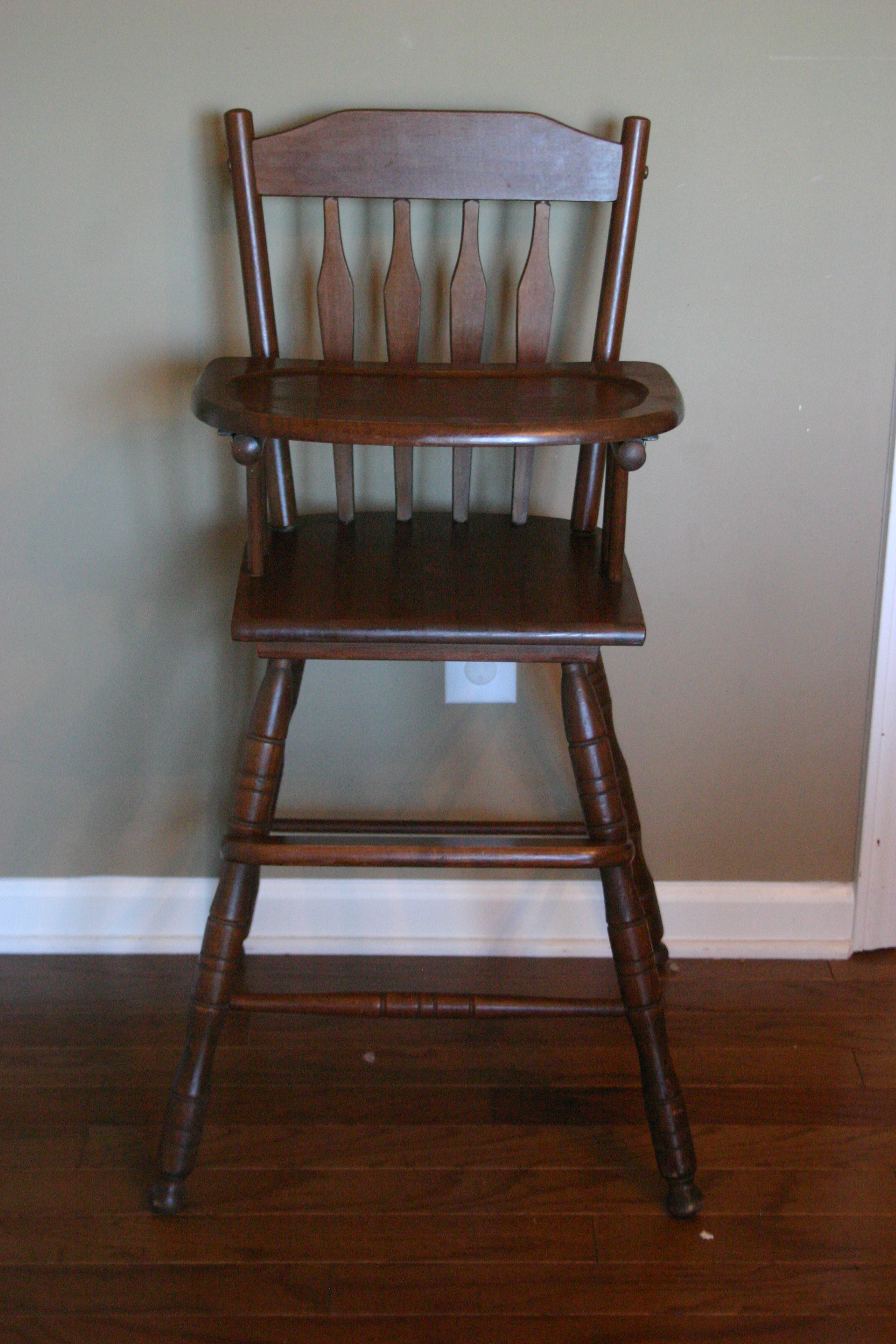 Buy High Chair Antique Wooden Highchair Where The Sidewalk Ends
