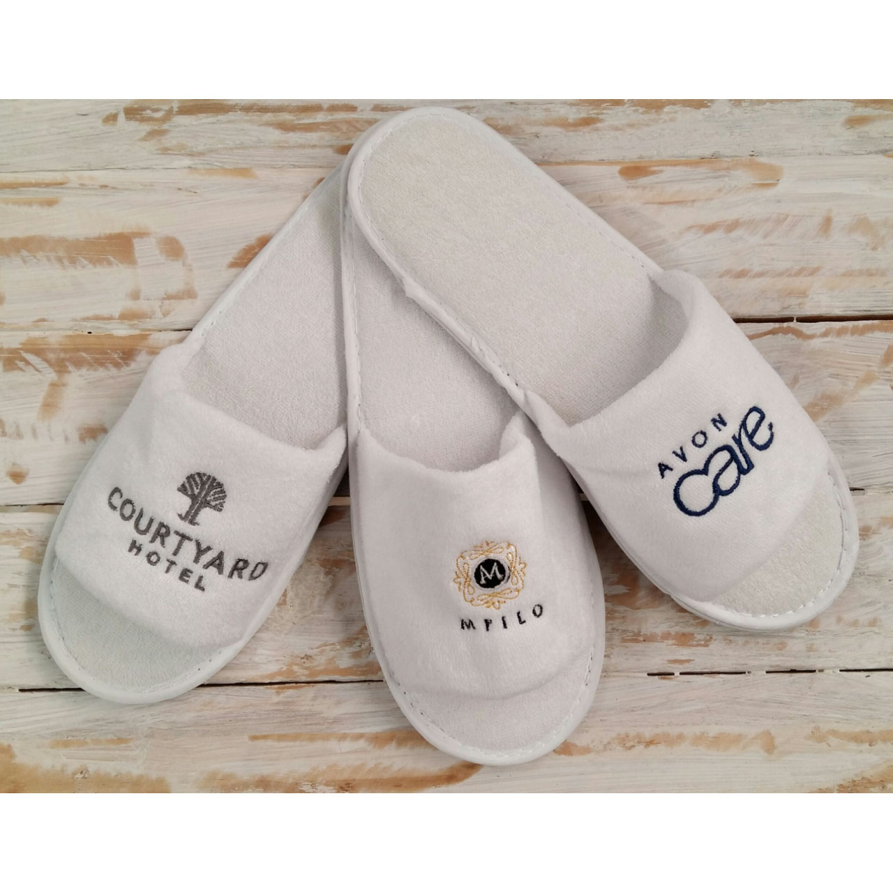 Baby Hotel Slippers Embroidered Slippers The Silver Flair