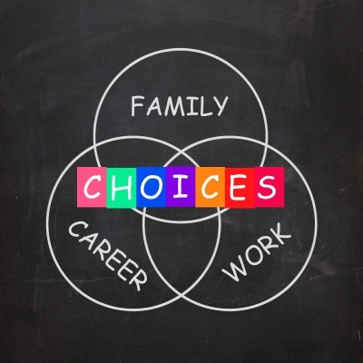Words Show Choices of Family Career and Work