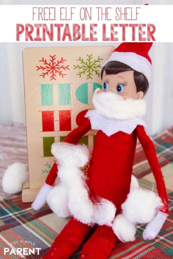 Elf on the Shelf Letter Printable Arrival  Goodbye Letters