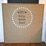 Desks + Bulletin Boards + Burlap